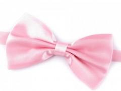 Szatén csokornyakkendő - Rózsaszín Egyszínű