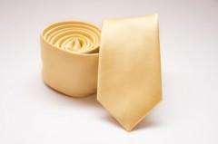 Prémium slim nyakkendő - Halványsárga