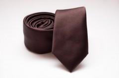 Prémium slim nyakkendő - Sötétbarna
