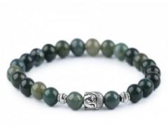 Férfi Budha ásvány karkötő - Zöld