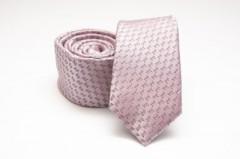 Prémium slim nyakkendő - Rózsaszín mintás Aprómintás nyakkendő