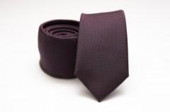Prémium slim nyakkendő - Padlizsán Aprómintás nyakkendő