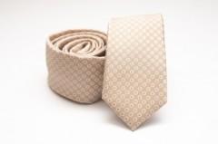 Prémium slim nyakkendő - Natúr pöttyös