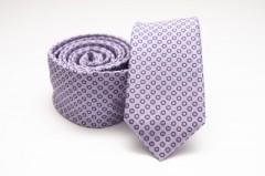 Prémium slim nyakkendő - Lila pöttyös Aprómintás nyakkendő