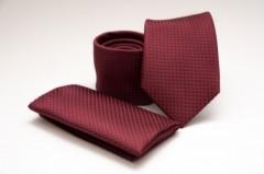 Prémium nyakkendő szett - Bordó Szett