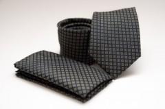 Prémium nyakkendő szett - Fekete mintás