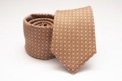 Prémium selyem nyakkendő - Drapp pöttyös