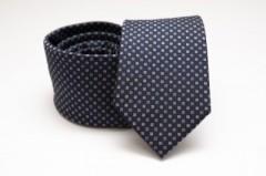 Prémium selyem nyakkendő - Sötétkék mintás