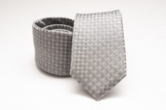 Prémium selyem nyakkendő - Ezüst mintás