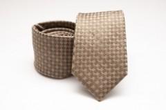 Prémium selyem nyakkendő - Caramell mintás