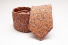 Prémium selyem nyakkendő - Caramell virágos