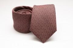 Prémium selyem nyakkendő - Barna mintás