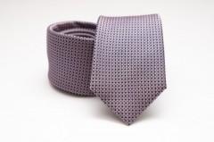 Prémium selyem nyakkendő - Orgona pöttyös