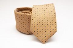 Prémium selyem nyakkendő - Aranysárga pöttyös