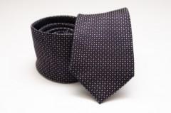 Prémium selyem nyakkendő - Fekete mintás