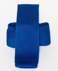 Prémium kötött nyakkendő - Királykék Kötött nyakkendők
