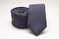 Prémium slim nyakkendő - Kék mintás Slim fazon