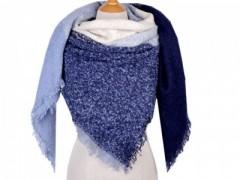 Akril kabátkendő - Kék mintás