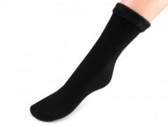 Unisex téli pamut zokni - Fekete Zokni