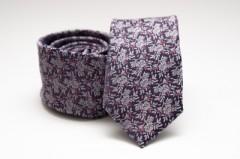 Prémium slim nyakkendő - Lila mintás Mintás nyakkendők