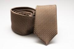 Prémium slim nyakkendő - Drapp pöttyös Aprómintás nyakkendő