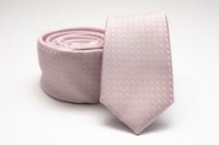 Prémium slim nyakkendő - Púder Kockás nyakkendők
