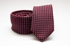 Prémium slim nyakkendő - Burgundi pöttyös Aprómintás nyakkendő