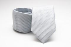 Prémium nyakkendő -  Ezüst pöttyös