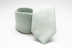 Prémium nyakkendő -  Halványmenta pöttyös Aprómintás nyakkendő