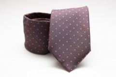 Prémium nyakkendő -  Lila pöttyös Aprómintás nyakkendő