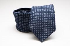 Prémium nyakkendő - Sötétkék kockás Kockás nyakkendők