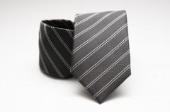 Prémium nyakkendő - Szürke csíkos