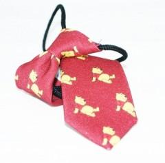 Gumis gyereknyakkendő (mini)  - Piros micimackós Gyerek nyakkendők