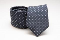 Prémium selyem nyakkendő - Sötétkék kiskockás