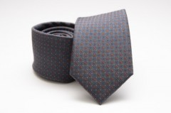 Prémium selyem nyakkendő - Sötétkék-piros pöttyös Selyem nyakkendők