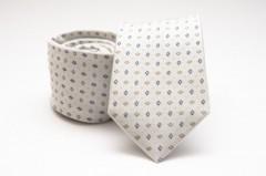 Prémium selyem nyakkendő - Natur kockás