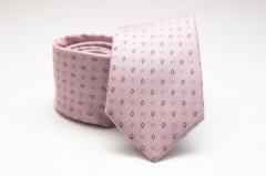 Prémium selyem nyakkendő - Rózsaszín kockás