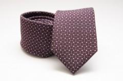 Prémium selyem nyakkendő - Burgundi kiskockás