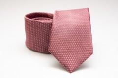 Prémium selyem nyakkendő - Lazac pöttyös