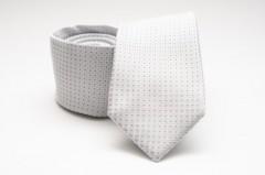 Prémium selyem nyakkendő - Fehér pöttyös