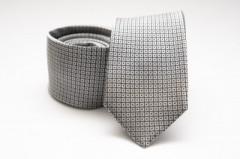 Prémium selyem nyakkendő - Ezüst kockás