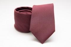 Prémium selyem nyakkendő - Bordó kockás