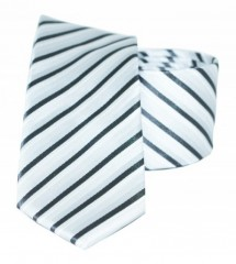 Goldenland slim nyakkendő - Ezüst csikos