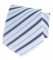 Goldenland nyakkendő - Lila-szürke csíkos