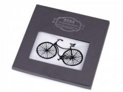 Ajándék zsebkendő szett  díszdobozban - Bicikli Pamut zsebkendő