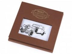 Ajándék zsebkendő szett  díszdobozban - Autó Pamut zsebkendő