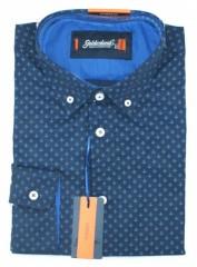 Goldenland hosszúujjú slim ing - Kék horgony mintás