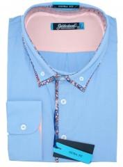 Goldenland extra hosszúujjú ing - Kék  Extra méret
