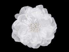Rózsa kitűző - Fehér
