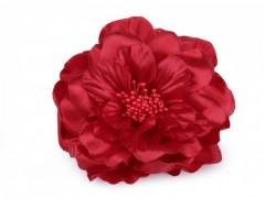 Rózsa kitűző - Meggybordó